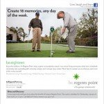 be.group regents point golf ad