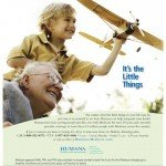 Humana ad grandfather and grandson airplane