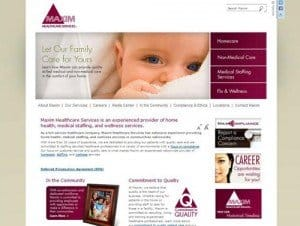 Maxim Healthcare Services family website