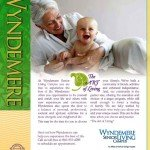 Wyndemere Senior Living Campus grandma and baby ad