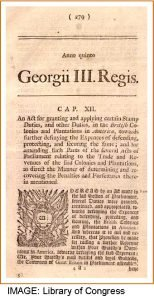 The Stamp Act document