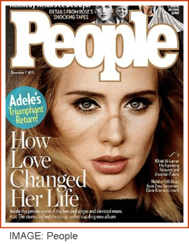Adele on People magazine cover