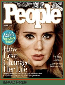 Adele on People magazine cover
