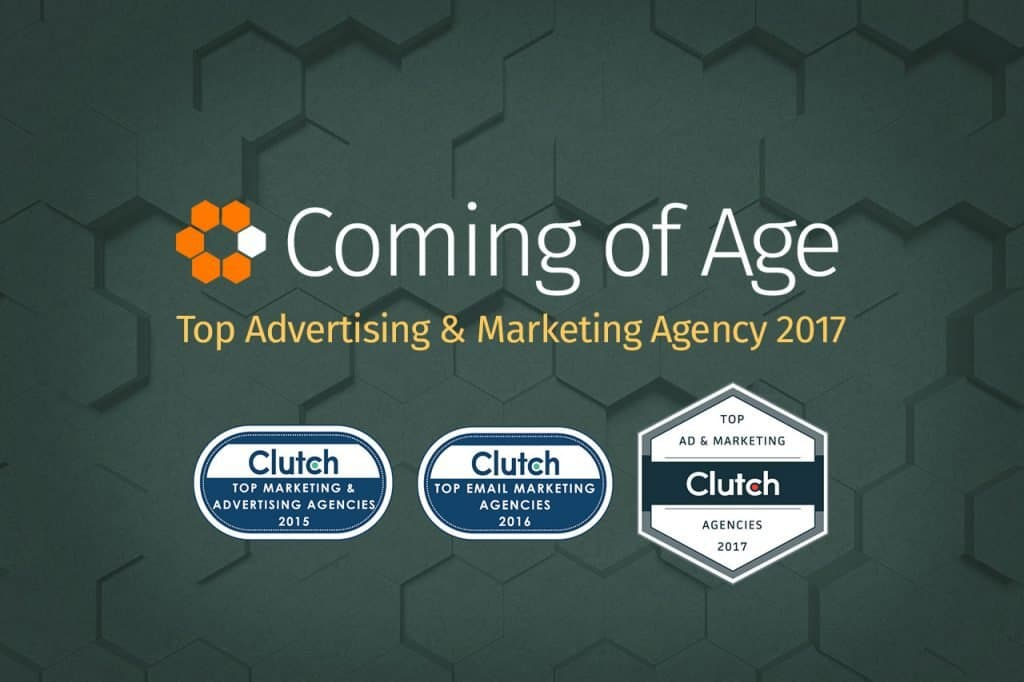 Coming of Age featured as a Leading Advertising Agency in Clutch 2017 Coverage