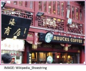 Starbucks restaurant in China
