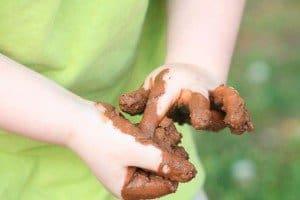 Throwing mud