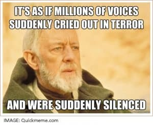Obi Wan millions of voices quote
