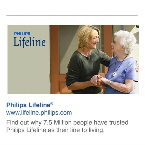 Philips Lifeline Caretaker Facebook ad