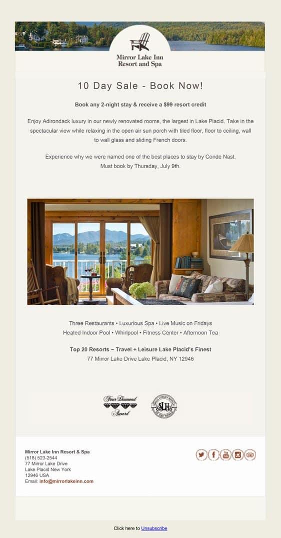 Mirror Lake Inn Email