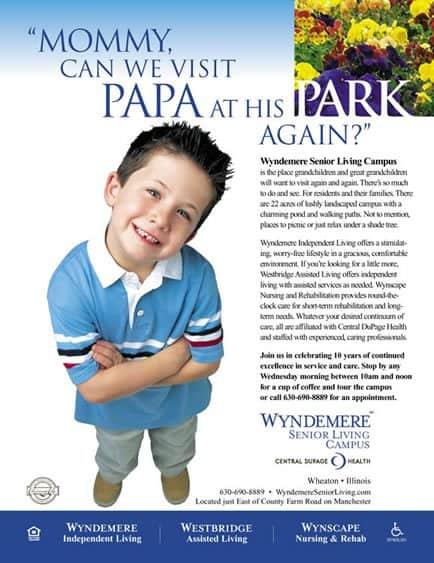 wyndemere senior living park print ad